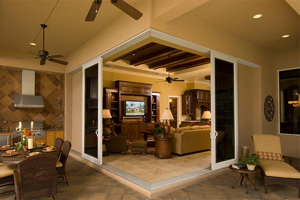 Impact Resistant Sliding Doors on Patio
