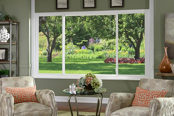 Impact Resistant Windows in Living Room