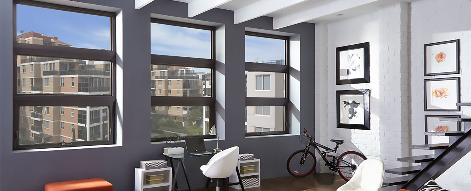 Impact Resistant Windows in a Contemporary Apartment Complex