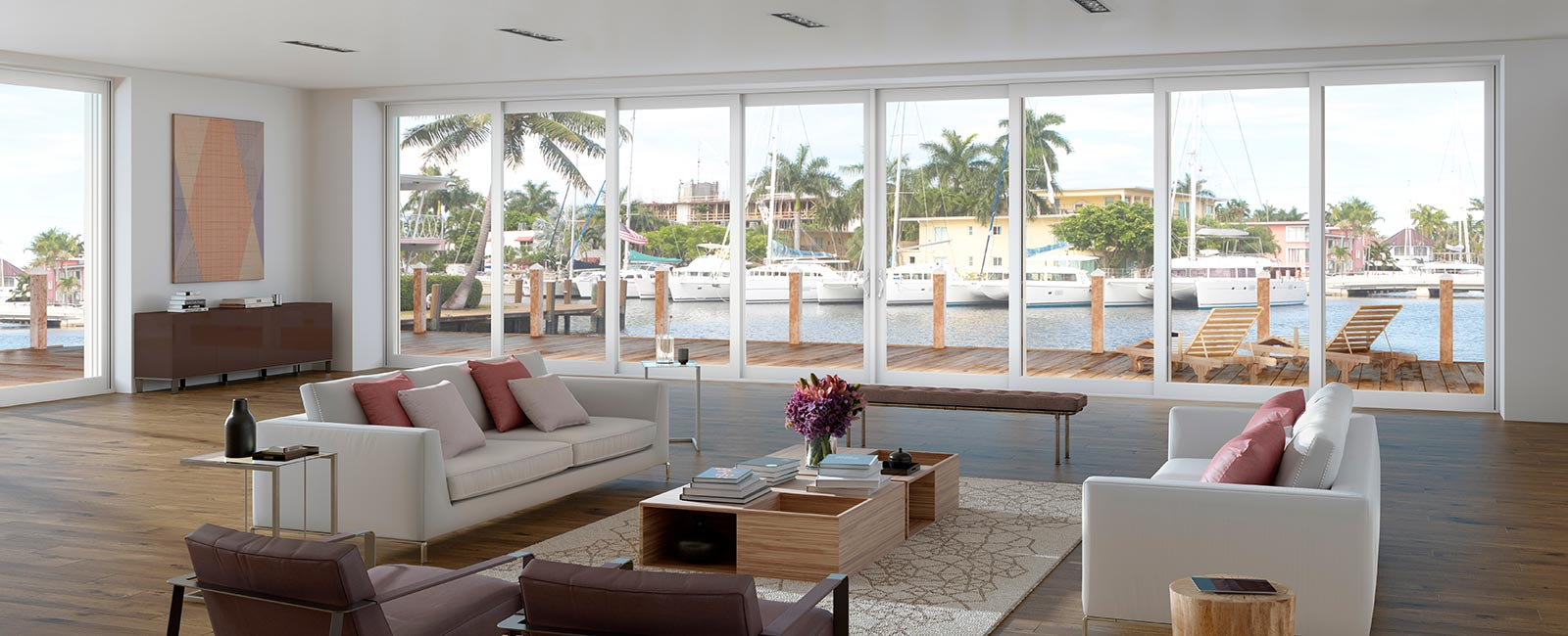 Impact Resistant Windows in Palm Beach Waterfront Home