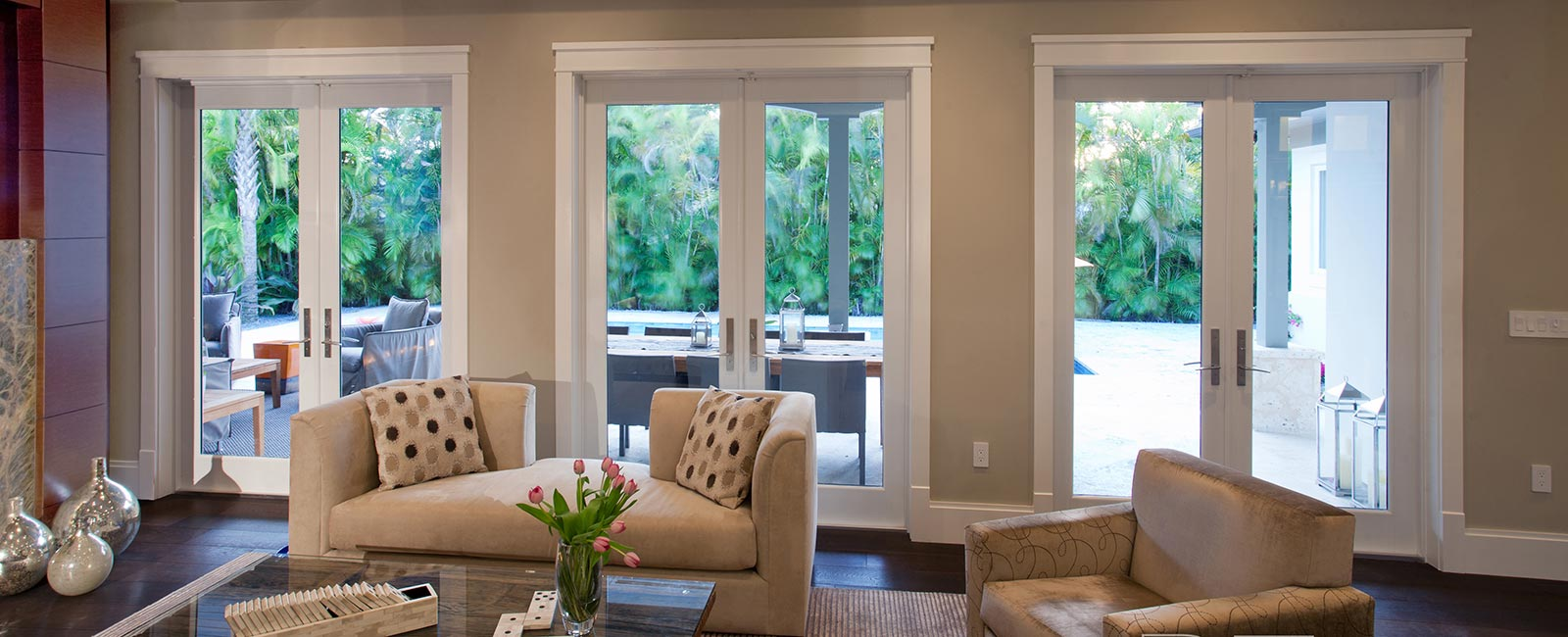 Impact Resistant French Doors in Palm Beach Home